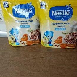 Детское питание - Каша нестле молочная гречневая с курагой, 0