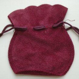 Подарочная упаковка - Подарочный мешочек для украшений бордовый, 0