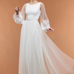 Платья - Непышное свадебное платье в ЗАГС 16-06, 0