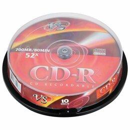 Диски - Диски CD-R VS 700 Mb 52x, КОМПЛЕКТ 10 шт., Cake…, 0