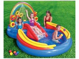 Надувные комплексы и батуты - Водный надувной игровой центр Радуга intex 57453, 0