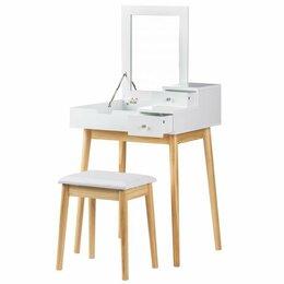 Столы и столики - Туалетный столик с зеркалом + табурет, 0