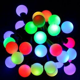 Новогодний декор и аксессуары - Новогодняя гирлянда Китай Гирлянда светодиодная Шарики уличная 10м мультиколор, 0