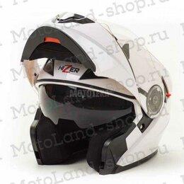 Мотоэкипировка - Шлем мото HIZER (Хайзер) 627 (M) white, 0