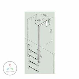 Лестницы и элементы лестниц - Стойка-поручень с отогнутым концом Zarges 43049, 0