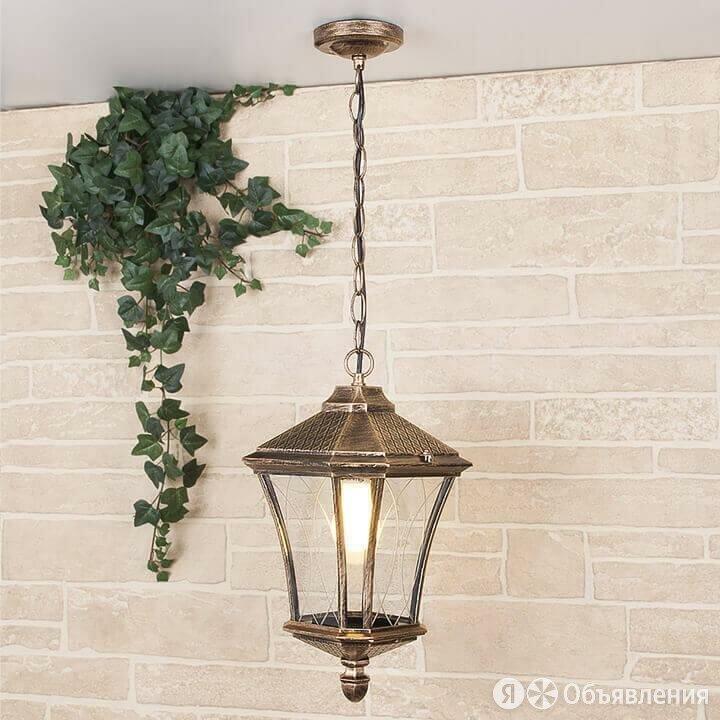Уличный подвесной светильник Elektrostandard Virgo H черное золото 4690389064906 по цене 5330₽ - Уличное освещение, фото 0