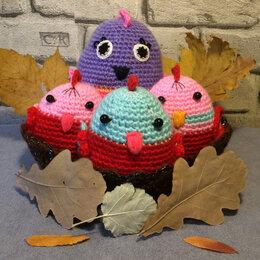 Мягкие игрушки - Вязаные игрушки-погремушки Весёлые попугайчики (ручная работа), 0