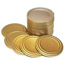 Крышки и колпаки - Крышка металлическая для консервирования СКО1-82 (50 шт), 0