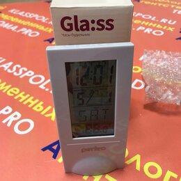Часы настольные и каминные - Часы с термометром Perfeo Glass с прозрачным дисплеем, 0