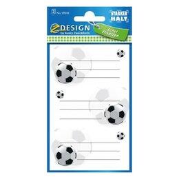 Расходные материалы для брошюровщиков - Стикеры на тетради и дневник Футбол 36 x 70 мм {59245}, 0