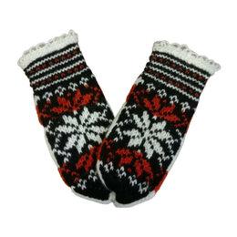 Перчатки и варежки - Варежки женские шерстяные Лапландия темные, 0