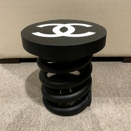 Стулья, табуретки - Стул Пружина Chanel black малый, 0