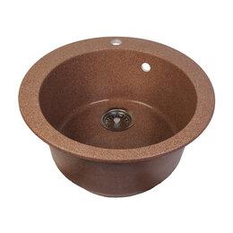 Кухонные мойки - Кухонная мойка круглая терракот, 0