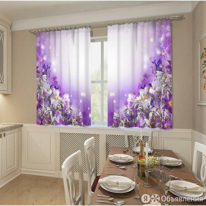 Фотошторы кухонные 'Цветочное волшебство', размер 145 х 160 см, 2шт., габардин по цене 2280₽ - Шторы и карнизы, фото 0