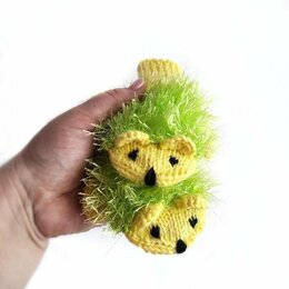 Перчатки и варежки - Детские Варежки ежики лимонного цвета, 0