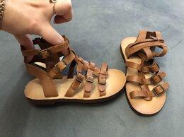 Босоножки, сандалии - Сандалии кожаные zara римские 28 размер, 0