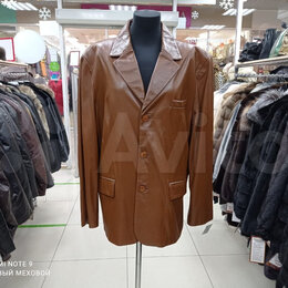 Пиджаки - Кожаный пиджак мужской, 0