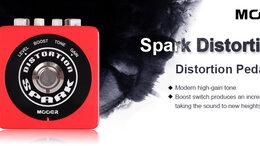 Процессоры и педали эффектов - MOOER Spark Distortion Педаль эффекта перегруза, 0