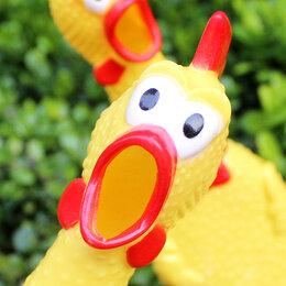 Мягкие игрушки - Кричащая курица, 0