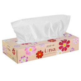 Бумажные салфетки, носовые платки - Elleair Бумажные салфетки в коробке l:na 150шт (60), 0