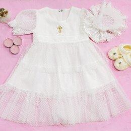 Крестильная одежда - Крестильный комплект для девочки : платье с…, 0