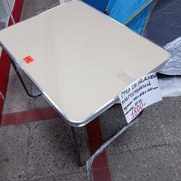 Походная мебель - стол складной туристический из влагостойкого пластика 780*602 мм, 0