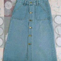Юбки - Юбка джинсовая новая xs s миди, 0