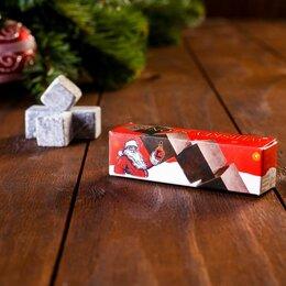 Аксессуары - Камни для виски Новогодний Санта, 4шт, 0