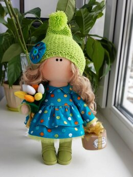 Куклы и пупсы - Девочка с тюльпанами. Кукла., 0