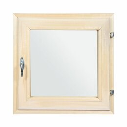 Окна - Окно липа 400/400/100 2стекла Сатин, 0