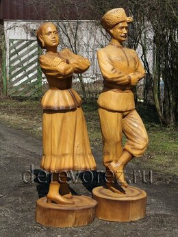 """Садовые фигуры и цветочницы - Парковая скульптура """"Казаки танцоры"""", 0"""
