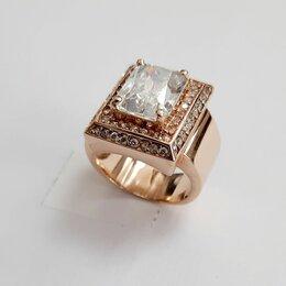 Кольца и перстни - Золотой перстень женский с белым камнем, 0