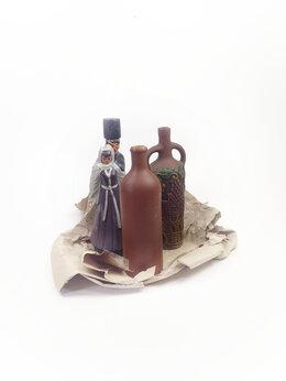 Этикетки, бутылки и пробки - Бутылки не более 0,75 литра, глина, керамика, из…, 0