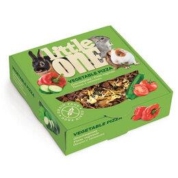 Лакомства  - LITTLE ONE Пицца с овощами. Лакомство - игрушка для всех видов грызунов 55 гр , 0