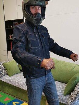 Куртки - Мотокуртка НОВАЯ джинсовая, 0