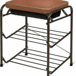 Банкетки и скамьи - Банкетка для обуви с мягким сиденьем и ящиком, 0