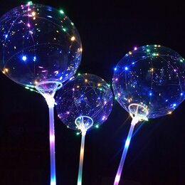 Воздушные шары - Светящиеся шары на палочке бобо оптом, 0