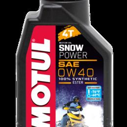 Масла, технические жидкости и химия - Масло моторное MOTUL (Мотюль) SNOWPOWER 4T, SAE 0W40 (4л), 0