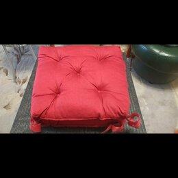Декоративные подушки - Новые 4 IKEA подушки для стульев красные бордовые, 0
