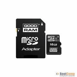 Карты памяти - Карта памяти micro Secure Digital Card 16Gb GOODRAM/с адаптером SD [M1AA-0160R1, 0