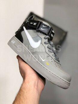 Кроссовки и кеды - Nike Air Force 1 lv8 utility mid серые, 0