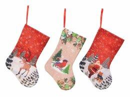 Новогодний декор и аксессуары - Носок для подарков ТЁПЛАЯ РАДОСТЬ, 30x27x17 см,…, 0