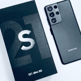 Мобильные телефоны - Самсунг S21Ultra 5G цвет чёрный , 0