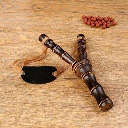 Аксессуары - Рогатка, двойной резиновый жгут, деревянная, 0
