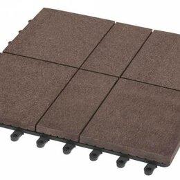 Паркет - Садовый паркет Люкс 8 Grinder / Гриндер ДПК, 300x300 мм, цвет шоколад, упаковка , 0