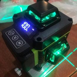 Измерительные инструменты и приборы - Zeast 4d зеленый лазерный нивелир 360 16 линий, 0