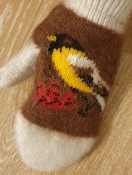 Перчатки и варежки - Варежки женские шерстяные тёплые зимние, 0