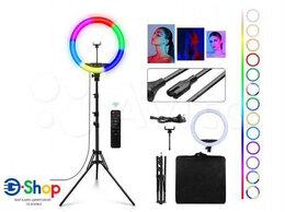 Осветительное оборудование - Кольцевая лампа 45см RGB + стойка, 0