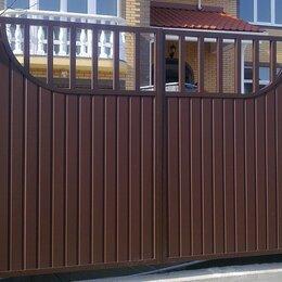 Заборы, ворота и элементы - Распашные ворота, 0