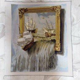 Картины, постеры, гобелены, панно - Картина вышитая крестом ручная работа, 0